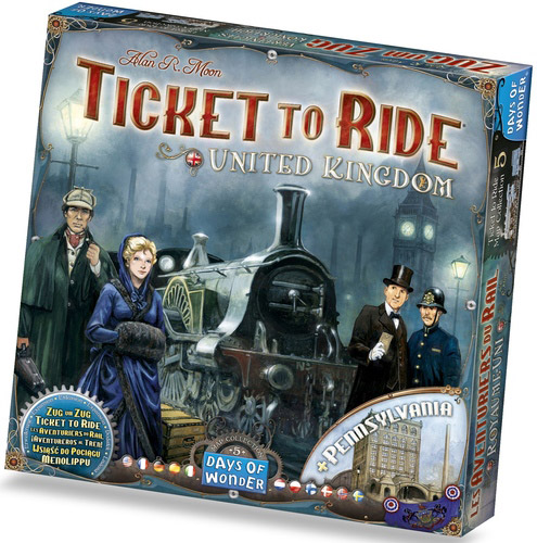 Ticket to Ride Map expansion 5 United Kingdom