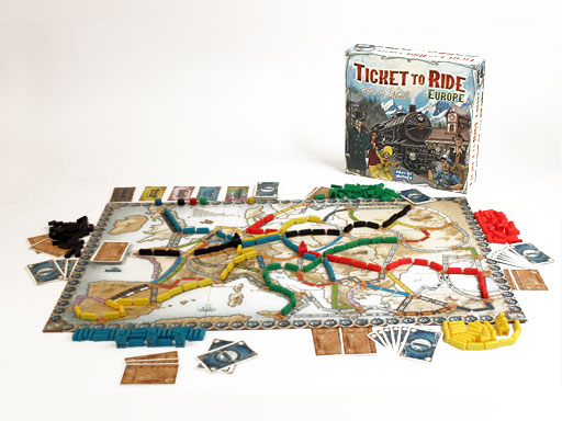 een spel Ticket to Ride Europe